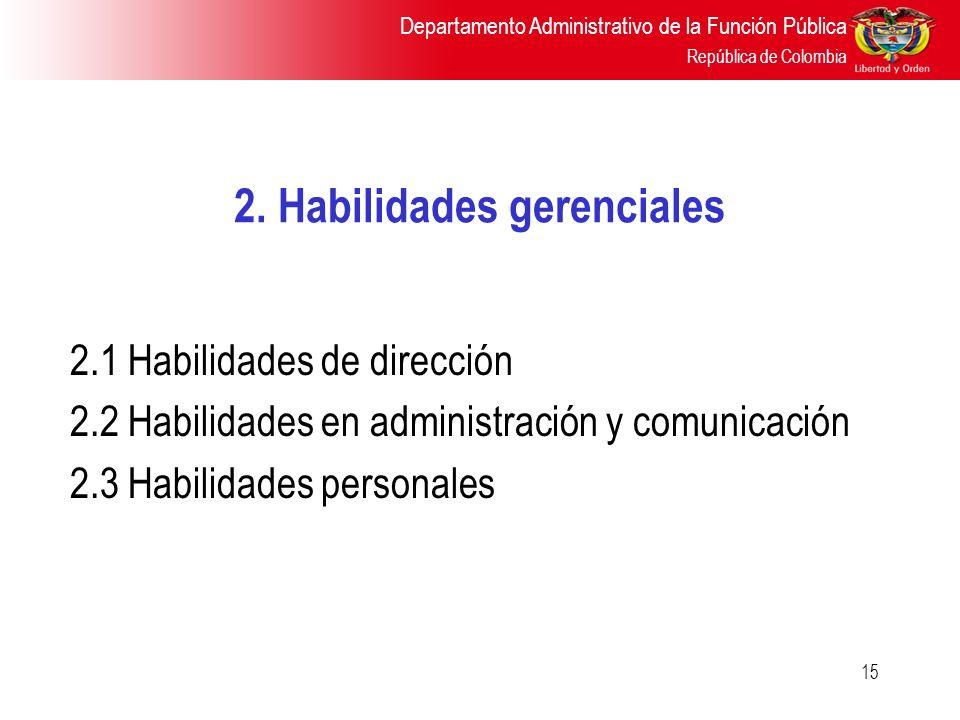 2. Habilidades gerenciales