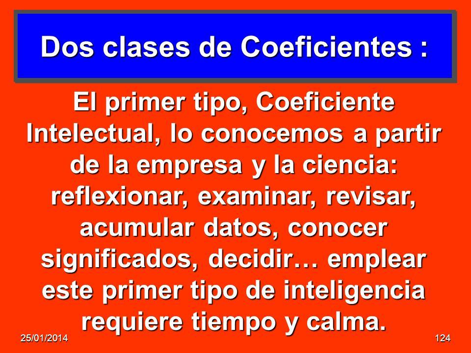 Dos clases de Coeficientes :