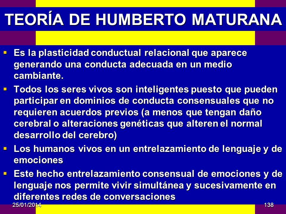 TEORÍA DE HUMBERTO MATURANA