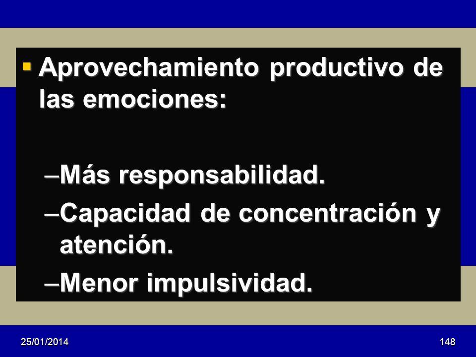 Aprovechamiento productivo de las emociones: