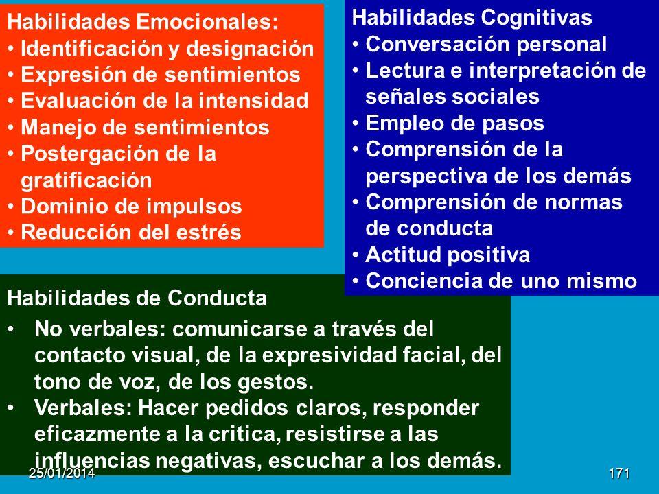 Habilidades Cognitivas Conversación personal