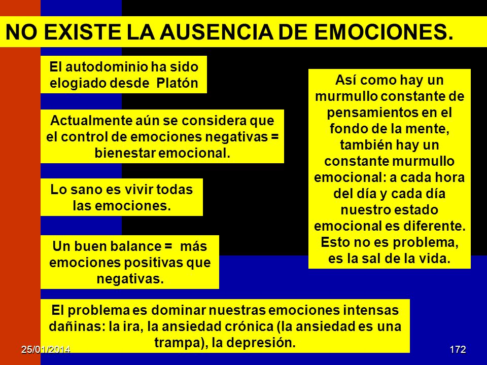 NO EXISTE LA AUSENCIA DE EMOCIONES.