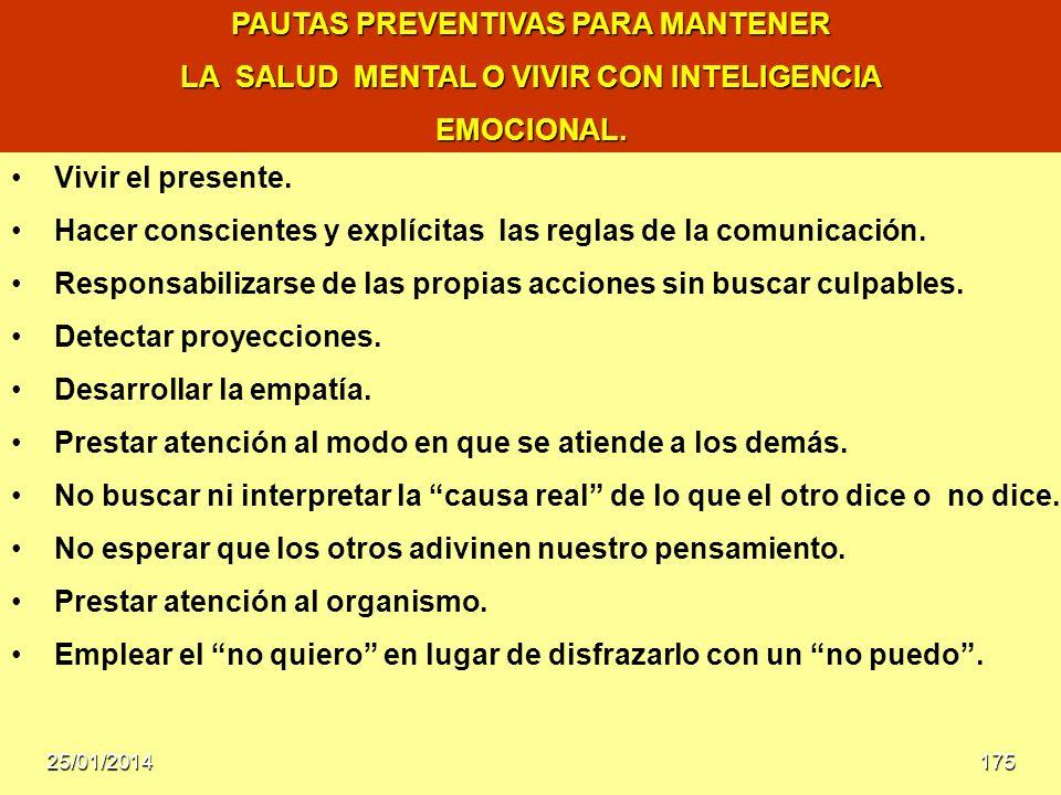 PAUTAS PREVENTIVAS PARA MANTENER