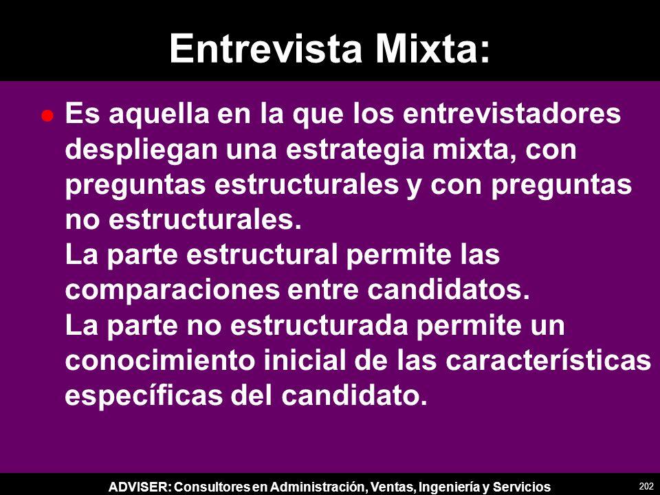 Entrevista Mixta: