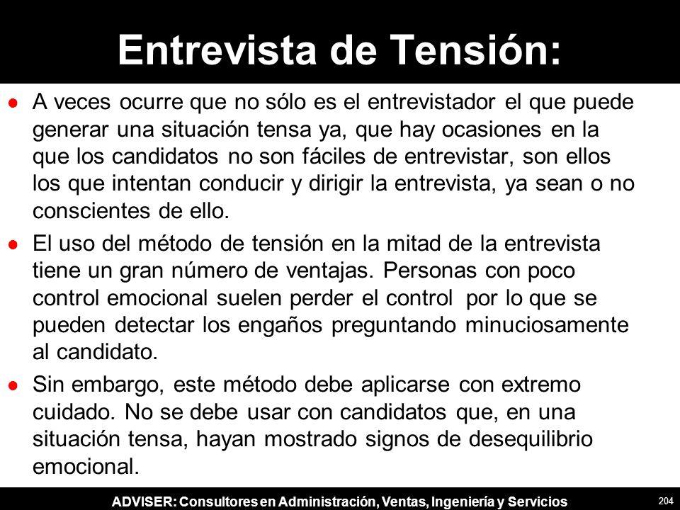 Entrevista de Tensión: