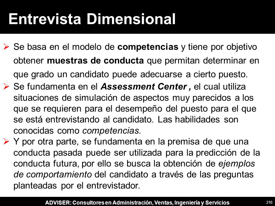 Entrevista Dimensional