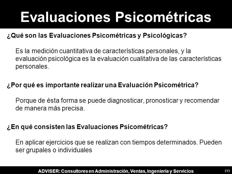 Evaluaciones Psicométricas
