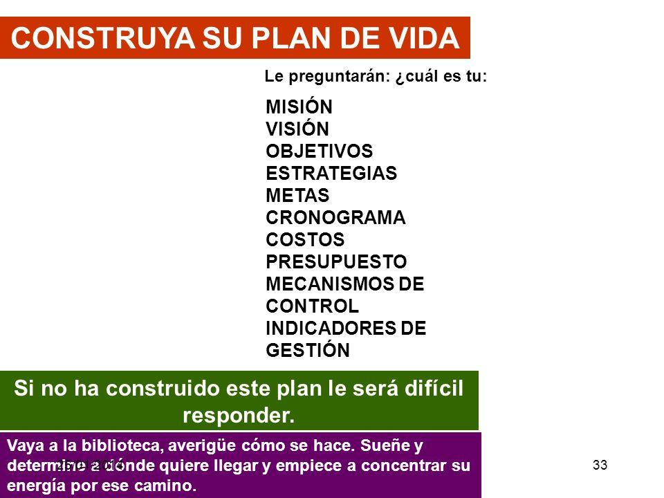 CONSTRUYA SU PLAN DE VIDA