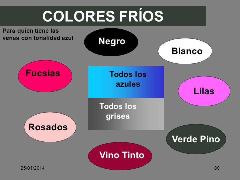 COLORES FRÍOS Negro Blanco Fucsias Lilas Rosados Verde Pino Vino Tinto
