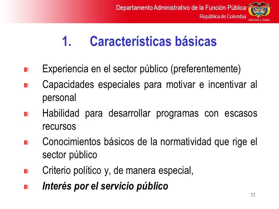 1. Características básicas