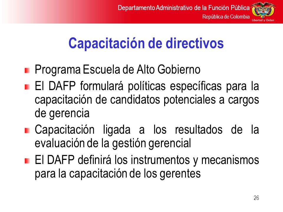 Capacitación de directivos