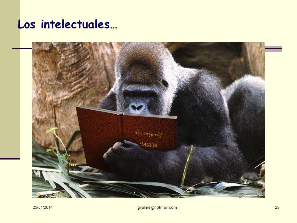Los intelectuales… 24/03/2017 gilalme@hotmail.com