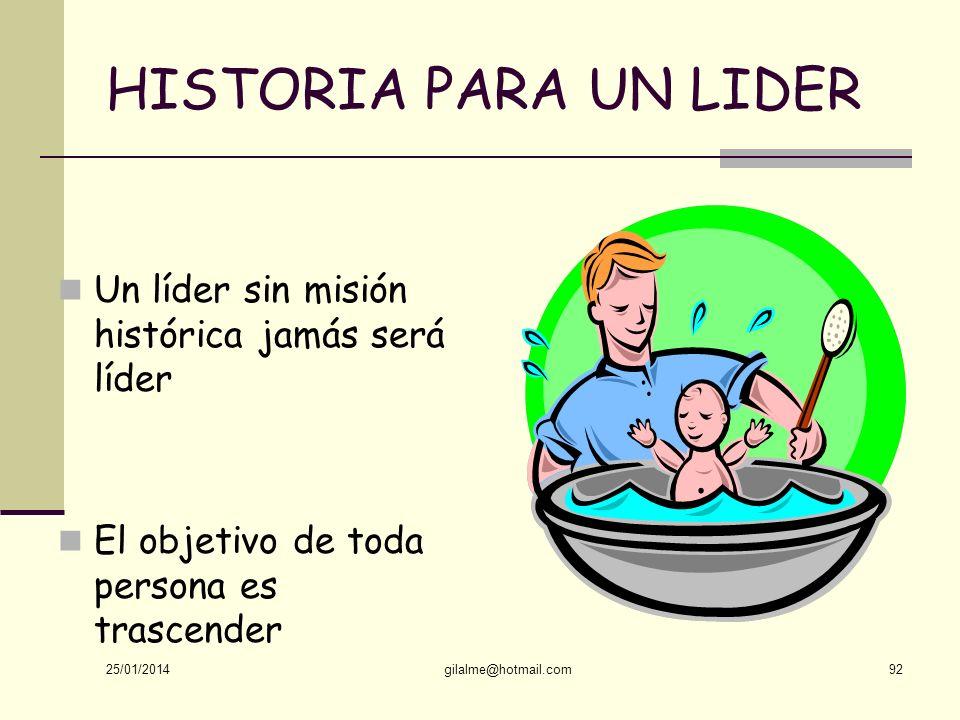 HISTORIA PARA UN LIDER Un líder sin misión histórica jamás será líder
