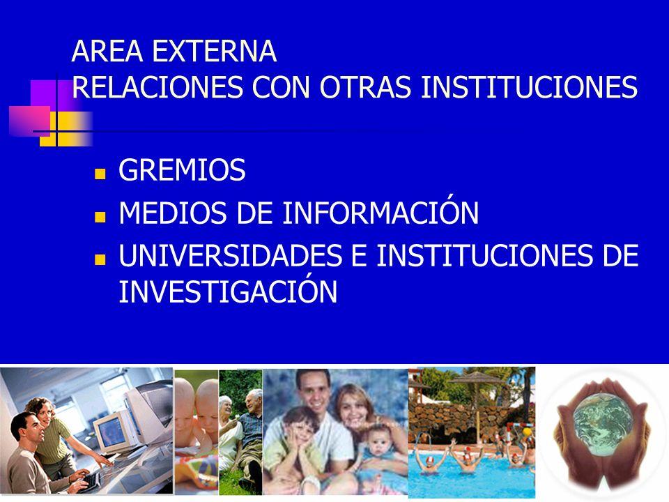 AREA EXTERNA RELACIONES CON OTRAS INSTITUCIONES