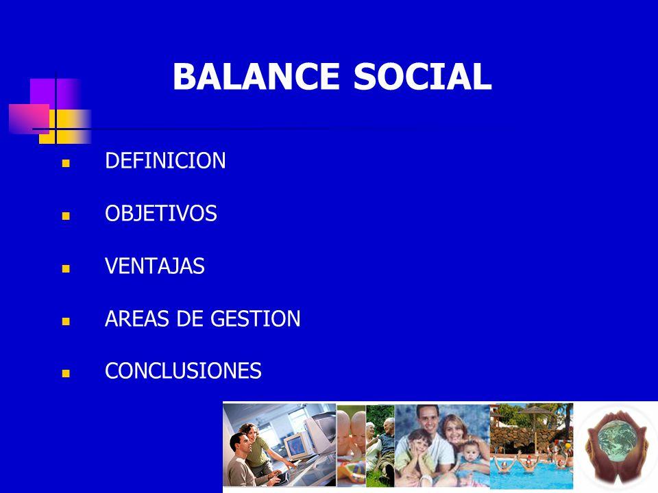 BALANCE SOCIAL DEFINICION OBJETIVOS VENTAJAS AREAS DE GESTION