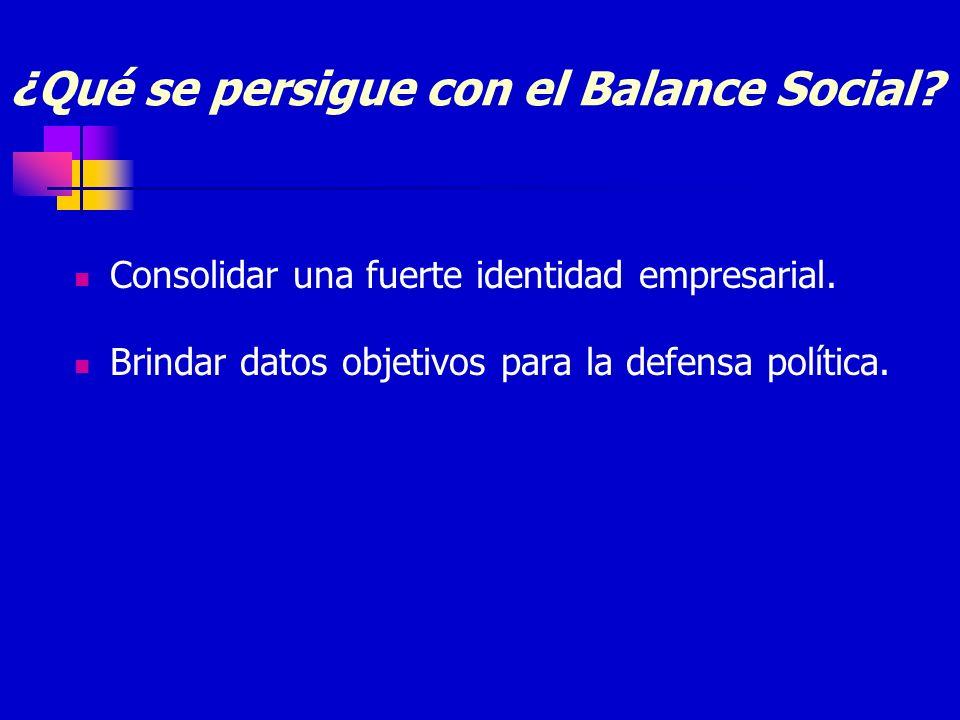 ¿Qué se persigue con el Balance Social