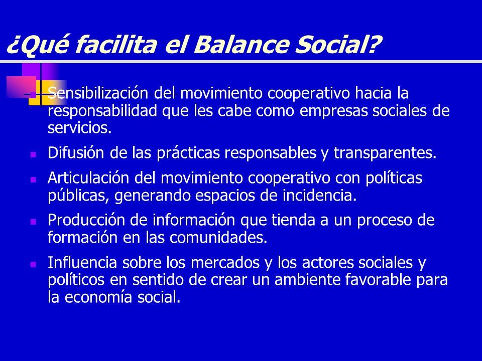 ¿Qué facilita el Balance Social