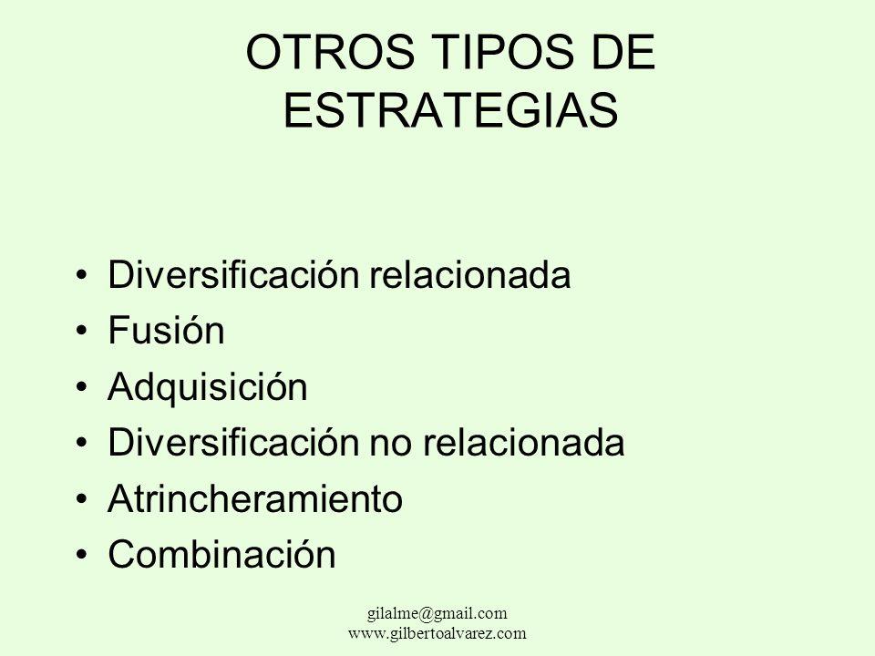 OTROS TIPOS DE ESTRATEGIAS