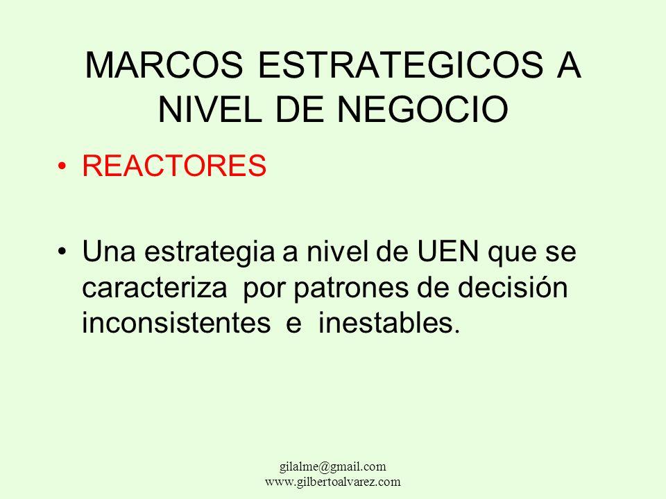 MARCOS ESTRATEGICOS A NIVEL DE NEGOCIO