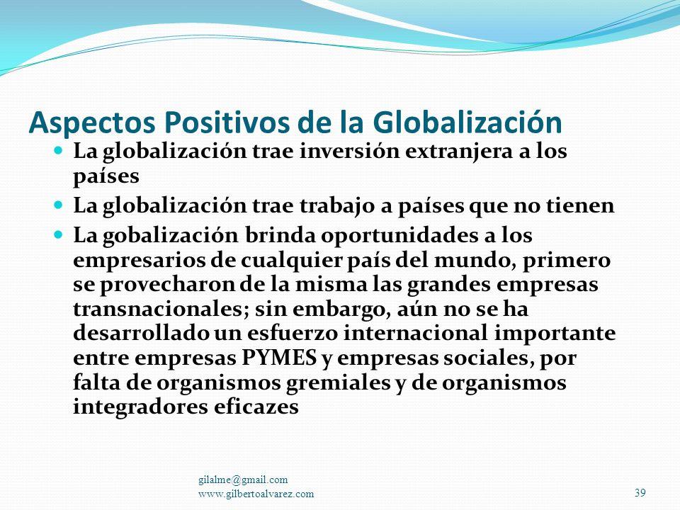 Aspectos Positivos de la Globalización