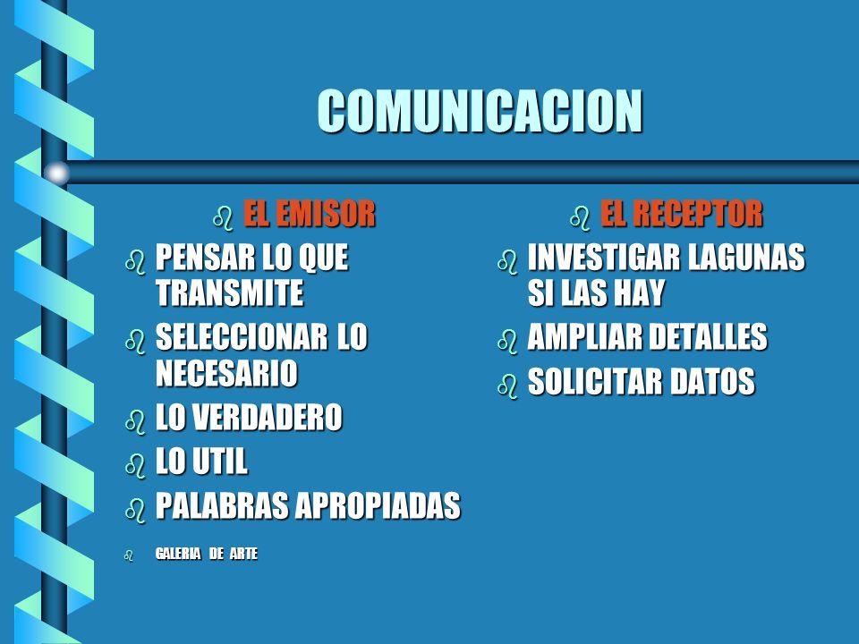 COMUNICACION EL EMISOR PENSAR LO QUE TRANSMITE
