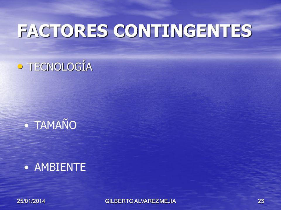 FACTORES CONTINGENTES