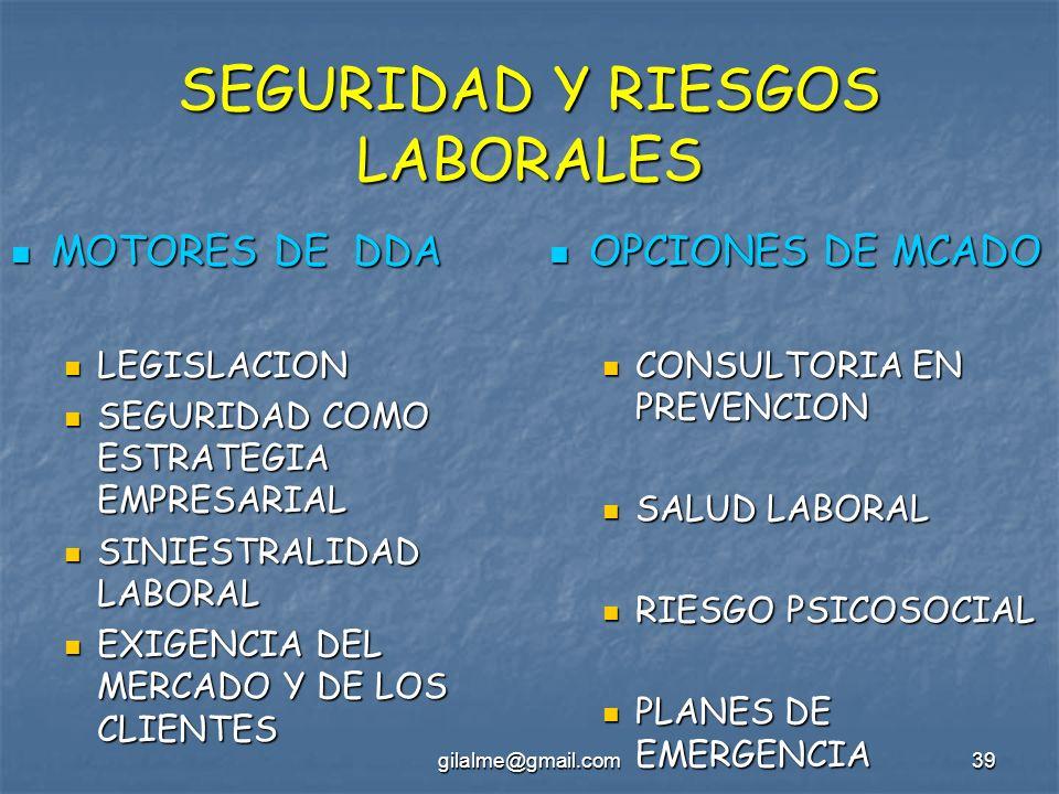 SEGURIDAD Y RIESGOS LABORALES