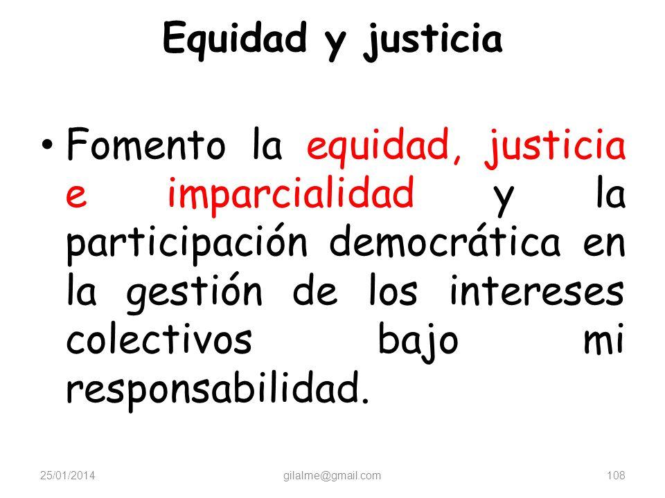 Equidad y justicia