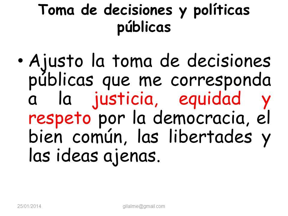 Toma de decisiones y políticas públicas