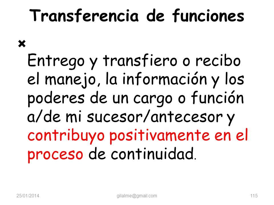 Transferencia de funciones