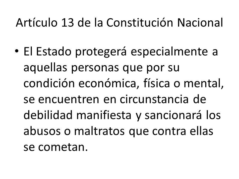 Artículo 13 de la Constitución Nacional