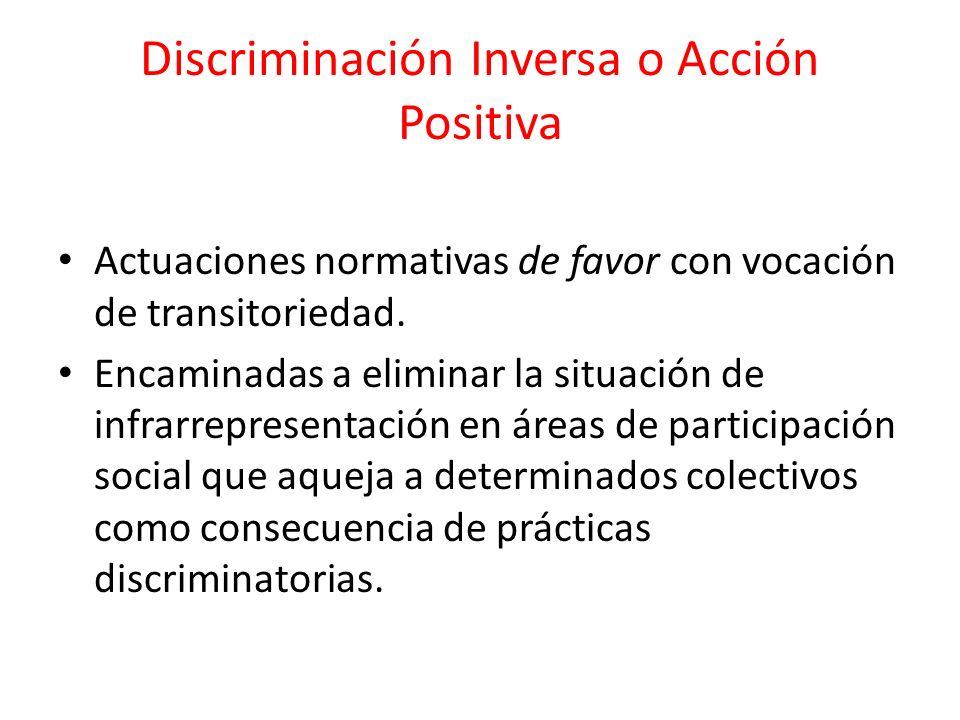 Discriminación Inversa o Acción Positiva