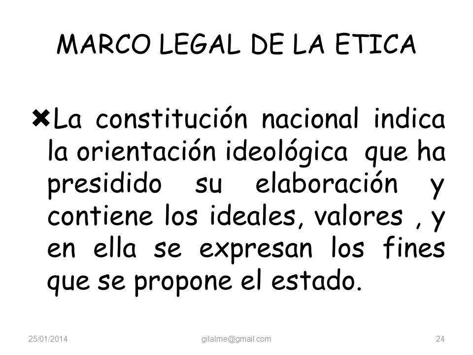 MARCO LEGAL DE LA ETICA