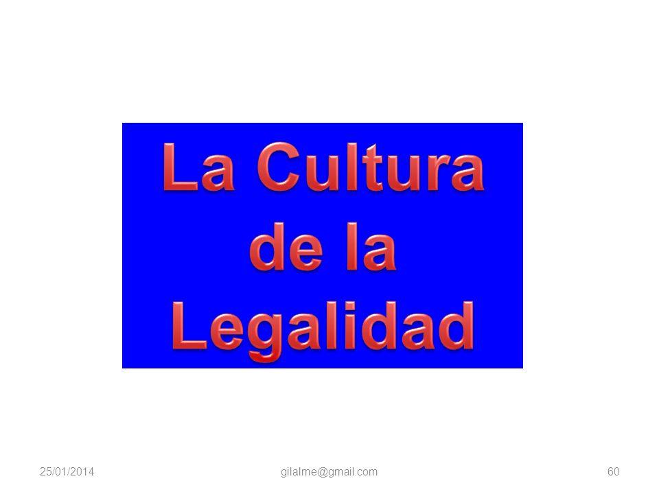 La Cultura de la Legalidad