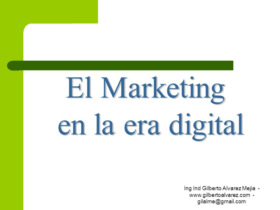 El Marketing en la era digital