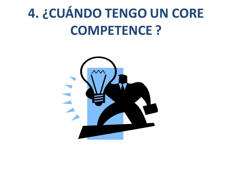 4. ¿CUÁNDO TENGO UN CORE COMPETENCE
