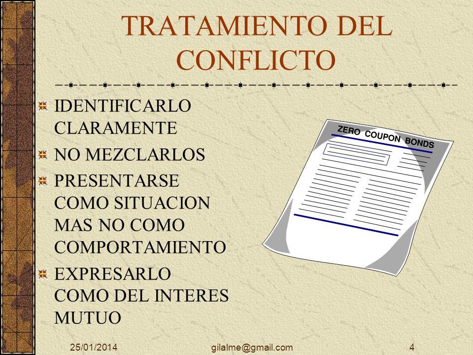 TRATAMIENTO DEL CONFLICTO