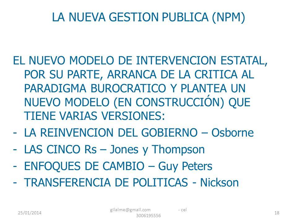 LA NUEVA GESTION PUBLICA (NPM)