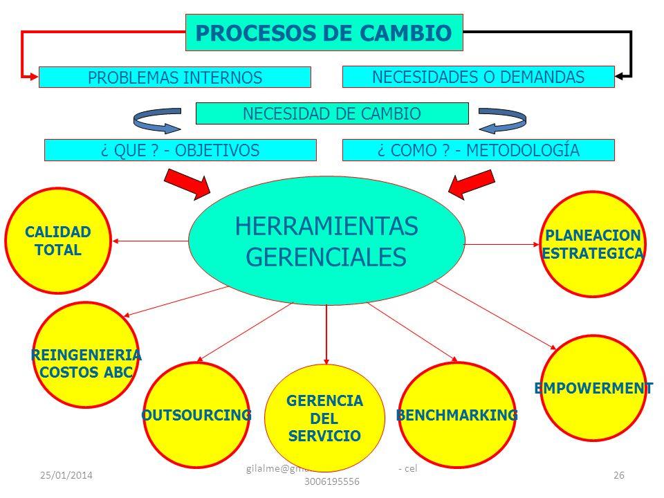 HERRAMIENTAS GERENCIALES PROCESOS DE CAMBIO PROBLEMAS INTERNOS