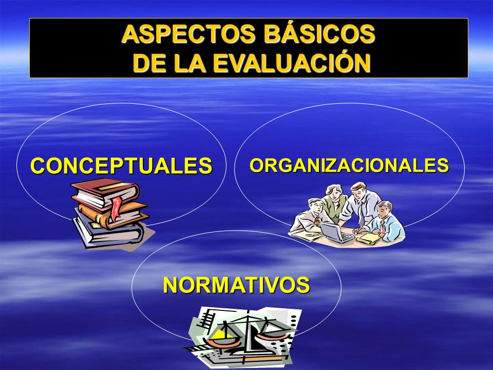 ASPECTOS BÁSICOS DE LA EVALUACIÓN