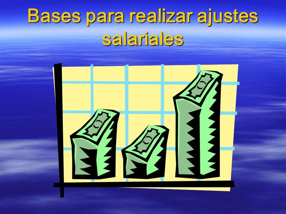 Bases para realizar ajustes salariales