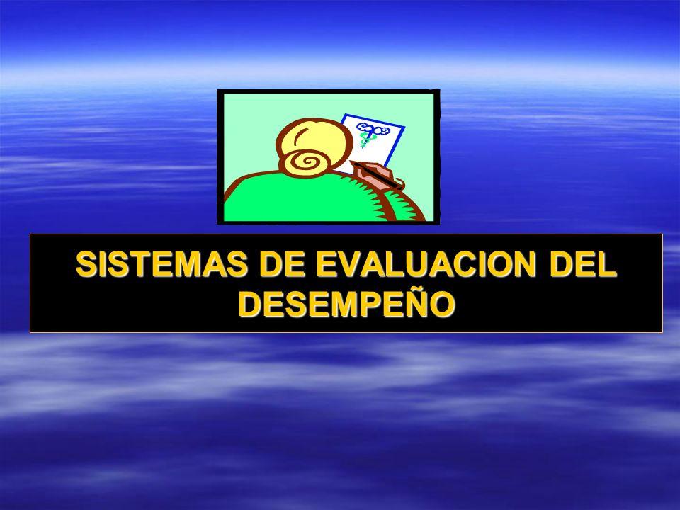 SISTEMAS DE EVALUACION DEL DESEMPEÑO