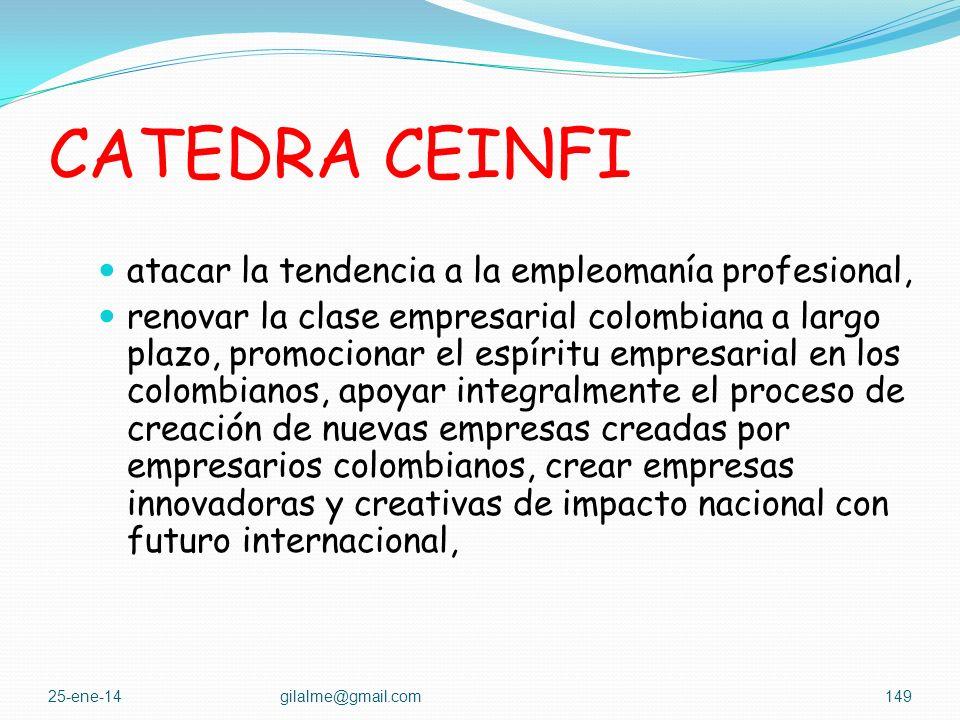 CATEDRA CEINFI atacar la tendencia a la empleomanía profesional,