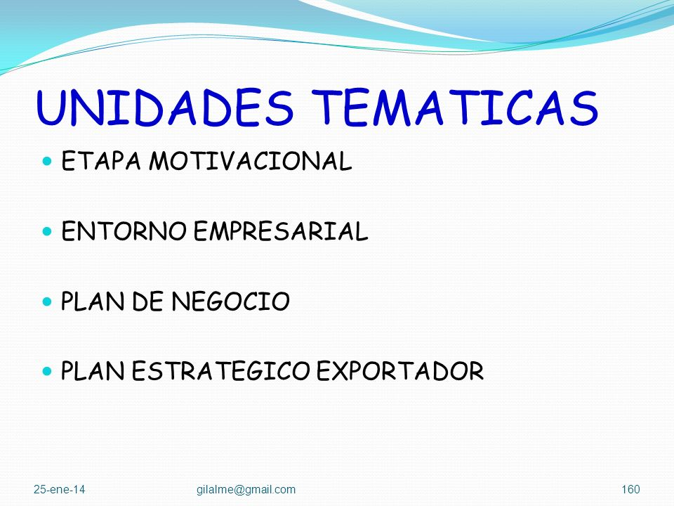 UNIDADES TEMATICAS ETAPA MOTIVACIONAL ENTORNO EMPRESARIAL