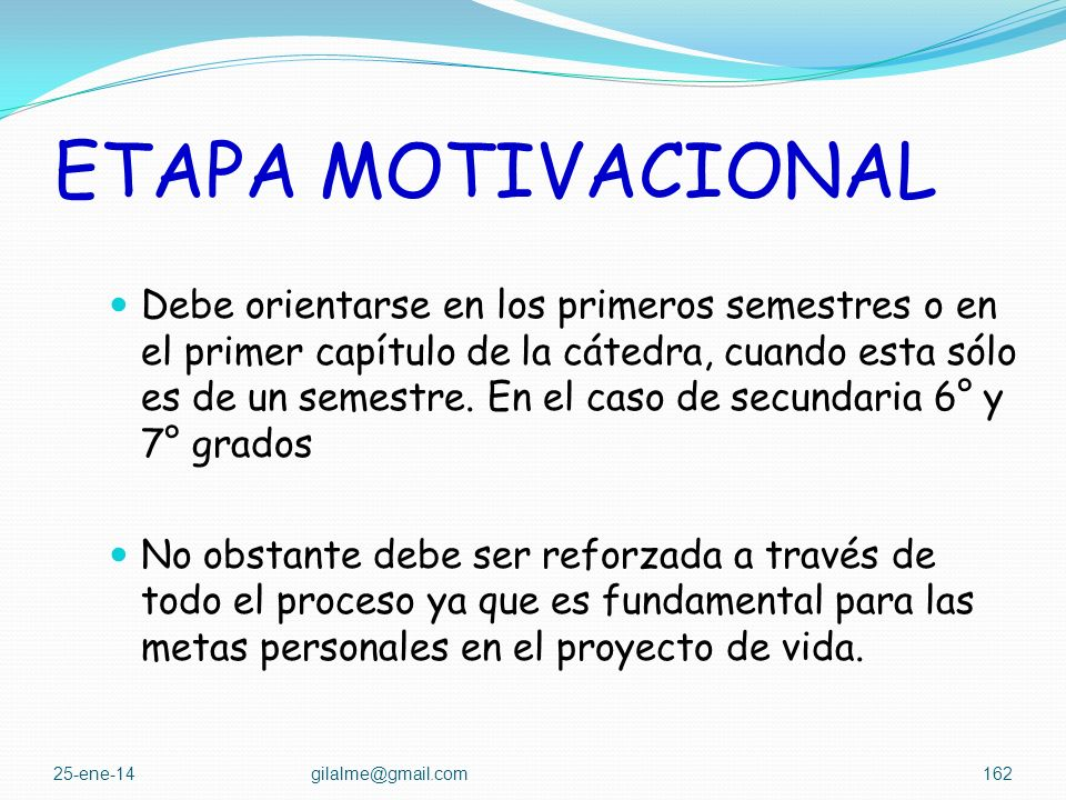 ETAPA MOTIVACIONAL
