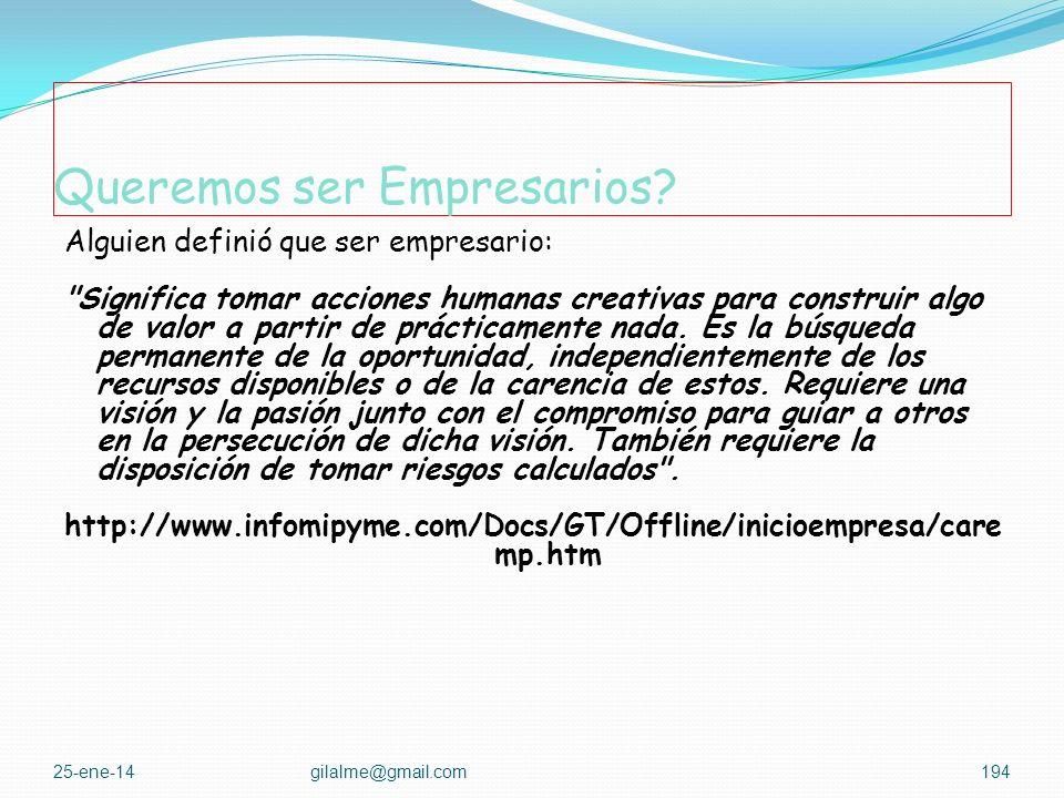 Queremos ser Empresarios