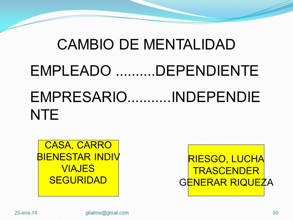 EMPRESARIO INDEPENDIENTE