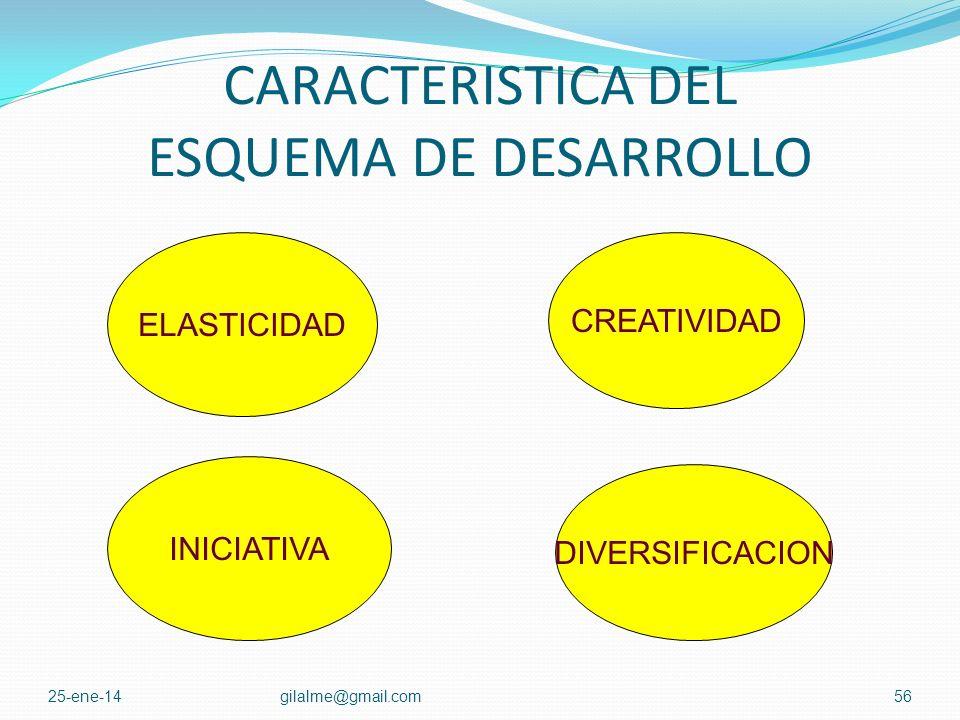CARACTERISTICA DEL ESQUEMA DE DESARROLLO