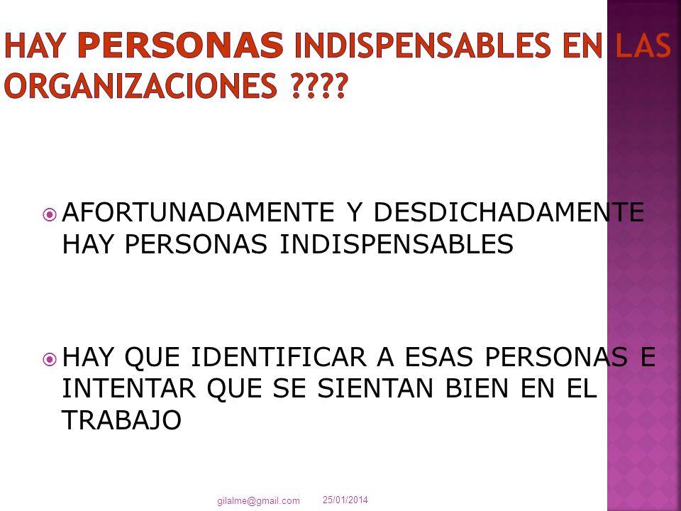 HAY PERSONAS INDISPENSABLES EN LAS ORGANIZACIONES