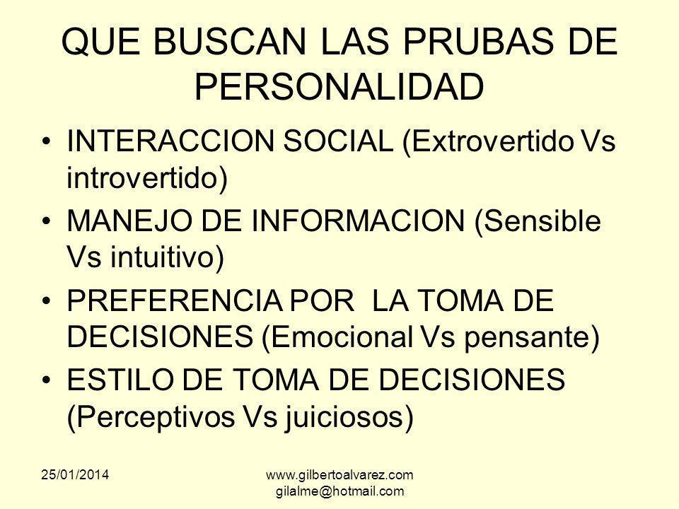 QUE BUSCAN LAS PRUBAS DE PERSONALIDAD